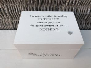 Personalised In Memory Of Box Loved One ~ GRANDAD ~ any Name Bereavement Loss - 232738814730